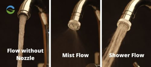 mist and shower flow brass nozzle